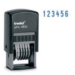 Нумератор мини автомат Trodat, 3,8мм, 6 разрядов, пластик