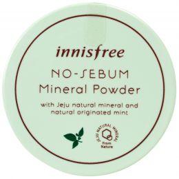 Innisfree Бесцветная матирующая рассыпчатая пудра No Sebum Mineral Powder