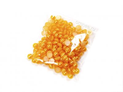 Полубусины , цв.: желто-оранжевые, 6 мм, уп. 10 гр.