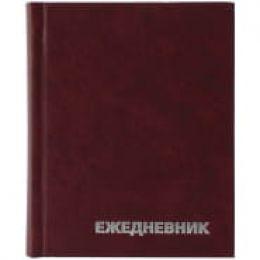 Ежедневник недатированный, A6, 160л., бумвинил, OfficeSpace, бордовый