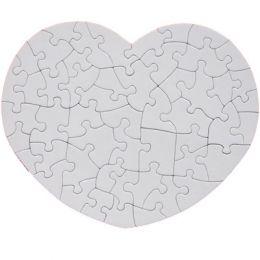 Пазл картонный сердце 23,5х19см (52 элемента)