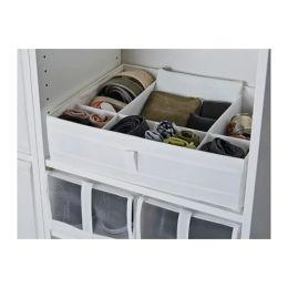 СКУББ Ящик с отделениями, белый, 44 x 34 x 11 см