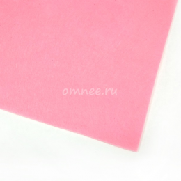 Фетр листовой жёсткий 1,2 мм, 20х30 см, цв.: 613 св.розовый