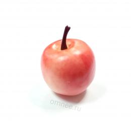 Яблоко 4х3 см, цвет: розовый, пластик
