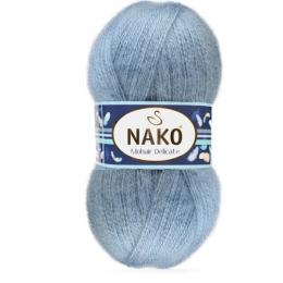 NAKO Mohair delicate 1986 св.джинс, 5%мохер, 10% шерсть, 85 % премиум акрил, 100 гр. 500 м.