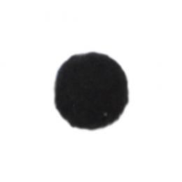 Помпоны, 13 мм, уп. 25шт. цв.: чёрный