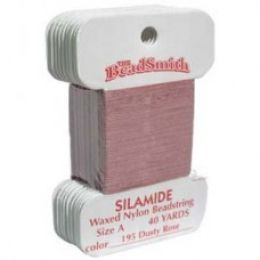 Нитки Silamide цвет пыльная роза / размер A / 36,5м / 1шт