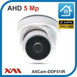 AltCam DDF51IR.(Пластик/Белая). 1920P. 5Mpx. Камера видеонаблюдения.