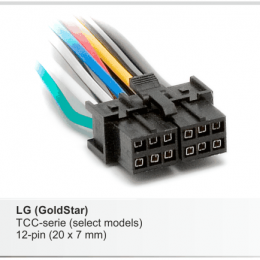 Разъемы магнитол LG CARAV 15-004