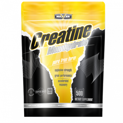 MAXLER, creatine monohydrate, дойпак 500гр.Натуральный