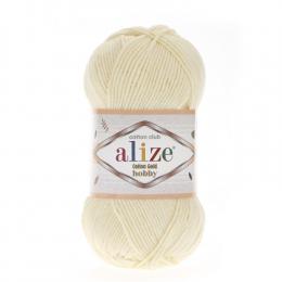 Alize Cotton Gold Hobby 01 (кремовый), 55% хлопок, 45% акрил, 50 гр. 165 м.