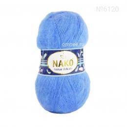 NAKO Mohair delicate 6120 (голубой), 5%мохер, 10% шерсть, 85 % премиум акрил, 100 гр. 500 м.