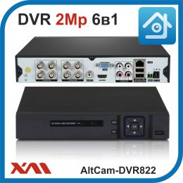AltCam DVR822. Видеорегистратор (AHD, XVI, CVI, TVI, CVBS, IP) 8В 4А.