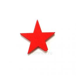 Декор 25 мм ''Звезда'', дерево, шт.