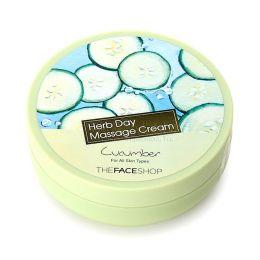 THE FACE SHOP Очищающий крем для лица c экстрактом огурца Herb Day Massage Cream Cucumber