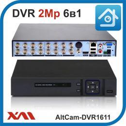 AltCam DVR1611. Видеорегистратор (AHD, XVI, CVI, TVI, CVBS, IP) 16В 2А.