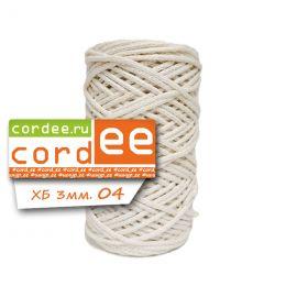 Шнур Cordee, ХБ 3 мм, цв.:04 ванильный