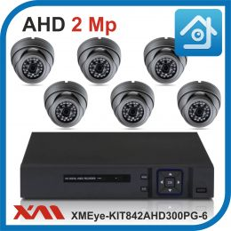 Комплект видеонаблюдения на 6 камер XMEye-KIT842AHD300PG-6.