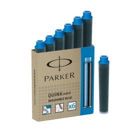 Картридж с чернилами для перьевой ручки Parker MINI, 1 шт., цвет: Blue