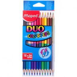 """Карандаши цветные двусторонние """"Maped"""" , 24 цвета"""