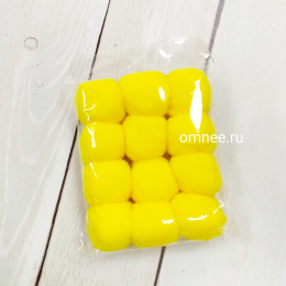 Помпоны 30 мм, уп. 12 шт. цв.: жёлтый