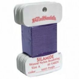 Нитки Silamide цвет фиолетовый / размер A / 36,5м / 1шт