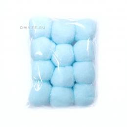 Помпоны 30 мм, уп. 12 шт. цв.: Голубой