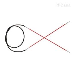 KnitPro Zing 2 мм, 80 см, круговые спицы, цв.: коралл