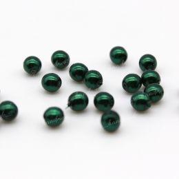 Жемчуг перламутровый темно-зеленый 4 мм 20 шт (Чехия)