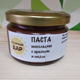"""Паста шоколадная с арахисом и мёдом """"Солнечный дар"""""""