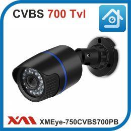 XMEye-750CVBS700PB-2,8.(Пластик/Черная). 700 Tvl. Камера видеонаблюдения CVBS.