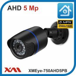XMEye-750AHD5PB-2,8.(Пластик/Черная). 1920P. 5Mpx. Камера видеонаблюдения.