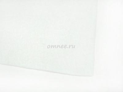 Фетр листовой жёсткий 2 мм, 20х30 см, цв.: 660 белый