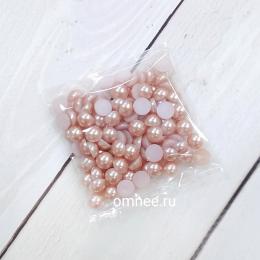 Полубусины ''Жемчужные'', цв.: Н30 пыльная роза, 7 мм, уп. 10 гр.