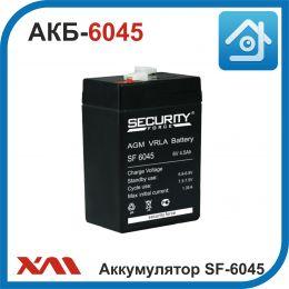 Аккумулятор АКБ SF-6045. 6V/4.5Ah. Стандарт 6.81-6.9V.