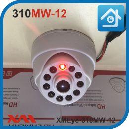 XMEye-310MW-12 (Белый). Муляж купольной камеры видеонаблюдения с диодом 12 вольт.