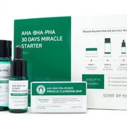 SOME BY MI AHA-BHA-PHA 30 Days Miracle Starter 25мл, 30 мл, 10мл, 20 мл, Мининабор кислотных средств для проблемной кожи