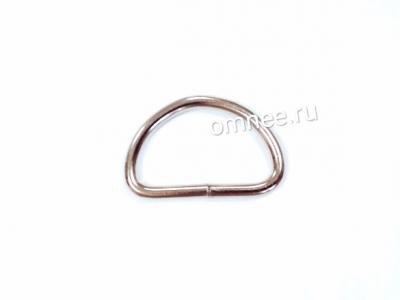 Полукольцо металлическое разьёмное , 2 см, цв.: никель