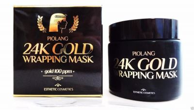 Маска для лица с 24 каратным золотом Esthetic House Piolang 24K Gold Wrapping Mask 80 мл.
