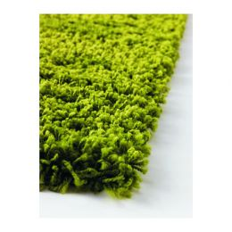 ХАМПЭН Ковер, длинный ворс, ярко-зеленый 133 х 195 см