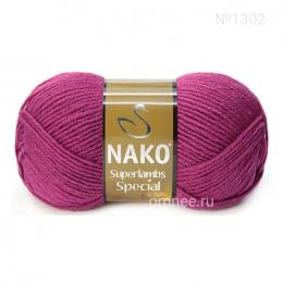 NAKO Superlambs special (1302 фуксия), шерсть ягнят 49% и акрил 51%, 100 гр. 200 м.