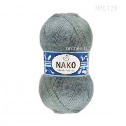 NAKO Mohair delicate 6129 (сизый), 5%мохер, 10% шерсть, 85 % премиум акрил, 100 гр. 500 м.