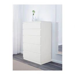 СКОНЕВИК Комод с 5 ящиками, белый 70 х 40 х 112 см