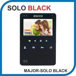 MAJOR SOLO BLACK. Видеодомофон 4 дюйма. 2 панели - 2 аудио трубки.