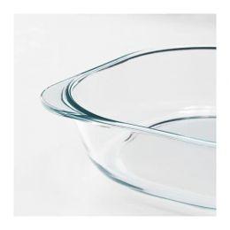 ФОЛЬСАМ Форма для духовки, прозрачное стекло, 24,5*24,5 см
