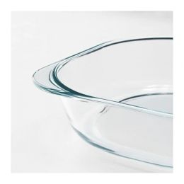 ФОЛЬСАМ Форма для духовки, прозрачное стекло, 24,5х24,5 см