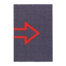 СЕЙЕТ Придверный коврик, темно-серый 40 х 60 см