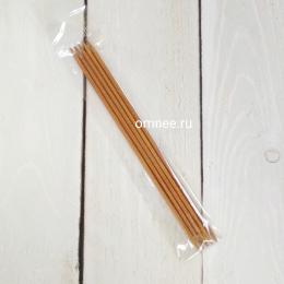 Спицы чулочные №3 мм, 13 см (5 шт), бамбук
