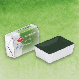 Травяная зеленая акварель кювета