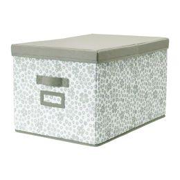 СТОРСТАББЕ Коробка с крышкой, бежевый, 35 x50 x 30 см